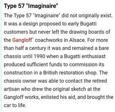 Bugatti Type 57, Drawing Board, Proposal