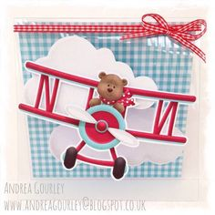 Cute birthday card with airplane.  The perfect card for the plane lover in your family! #cardmaking FQB - Up Up & Away Collection from Nitwit Collections™
