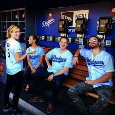 Dodgers! Chicago PD. Sophia Bush, Jesse Lee Soffer, Patrick Fluegar Stella Maeve.
