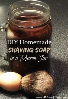 Homemade shaving soap in a Mason jar. I have the hardest time coming up with homemade gifts for guys, especially ones they'll use. This is perfect... and the ladies can use it too when it's time to bare the legs. I love the addition of the oatmeal.