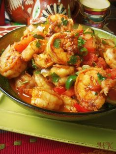 Camarones a la Mexicana is as easy as preparing your favorite pico de gallo recipe and combining it with some for a quick, hot stir-fry (or in a pinch, use a great fresh pico de gallo from the deli!) a la Mexicana Fish Recipes, Seafood Recipes, Mexican Food Recipes, New Recipes, Cooking Recipes, Favorite Recipes, Healthy Recipes, Spicy Recipes, I Love Food