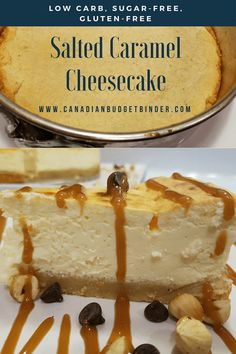 The Best 5 Keto Cheesecake Ricette Salted Caramel Cheesecake, Low Carb Cheesecake, Pumpkin Cheesecake, Cheesecake Recipes, Diabetic Cheesecake, Keto Desserts, Best Low Carb Recipes, Diet Recipes, Vegetarian Recipes