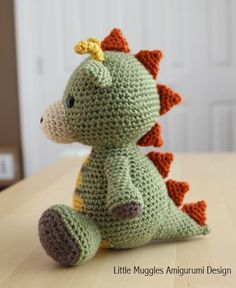 Amigurumi Pattern - Spike the Dragon via Craftsy