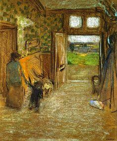 ← → The Vestibule at Saint Jacut de la mer, Edouard Vuillard 1909 Post-Impressionism Edouard Vuillard, Vestibule, Famous Artists, Great Artists, Renoir, Monet, Gauguin, Avant Garde Artists, Pierre Bonnard