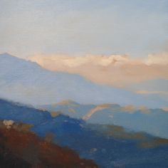 Simple Mountains from Will Kemp's Acrylic Landscapes course on www.ArtTutor.com