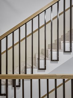 Wooden Staircase Design, Steel Railing Design, Interior Stair Railing, Staircase Handrail, Balcony Railing Design, Home Stairs Design, Grill Door Design, Door Gate Design, House Gate Design