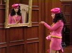 ep612 Fran in the mirror.