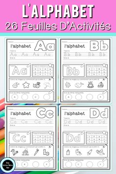 Are you looking for French Alphabet Worksheets to reinforce letter identification and beginning sounds? These French alphabet activity sheets are no-prep and simple to use! French Worksheets, Alphabet Worksheets, Alphabet Activities, Learning Activities, Kids Worksheets, Preschool Alphabet, Preschool Printables, Teacher Tools, Teacher Resources
