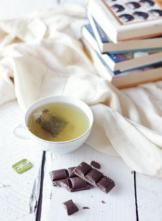 tea, chocolate, and books // photo by Eeva Kolu