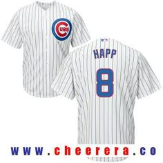 Men s Chicago Cubs  8 Ian Happ White Home Stitched MLB Majestic Cool Base  Jersey 117247d54