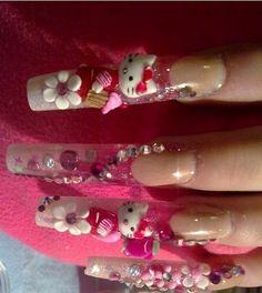 Cute Hello Kitty Nail Designs: Latest Design Hello Kitty Nail Art Diamond ~ fixstik.com Nail Designs Inspiration
