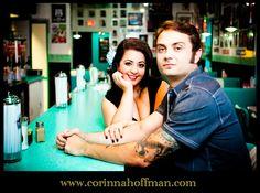 © Corinna Hoffman Photography - www.corinnahoffman.com - Engagement Session – Jacksonville, FL - Jacksonville, FL Engagement Photographer – 1950's - Johnny Angels Diner