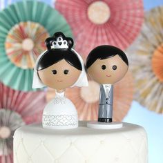 For the cutest in wedding cake fashion, nothing beats this Kokeshi cake topper. Wedding Cake Fresh Flowers, Wedding Cake Pops, Wedding Cake Toppers, Wedding Cakes, Wedding Cake Prices, Bridal Brooch Bouquet, Paper Cake, Cake Toppings, Love Cake