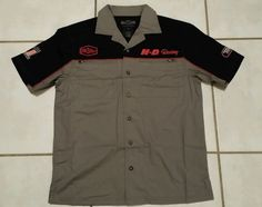 NWOT Harley-Davidson Colorblocked Garage Short Sleeve Grey Shirt Men's Medium   | eBay