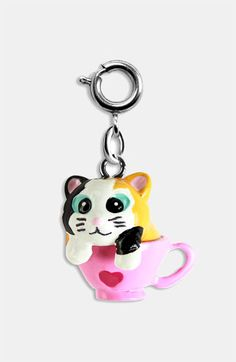 'Animal' Charm (Girls) Kitten In A Cup $5.00
