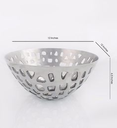 Designer metal fruit basket