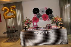 Birthday Decoration Ideas - Themes and Dessert Tables: I will share the best ideas and decoration options for 25 years' Birthday. Birthday Gifts For Husband, Birthday Party For Teens, Fabulous Birthday, Birthday Table, 25th Birthday, Birthday Party Decorations, Happy Birthday, Kids Art Party, Kate Spade Party