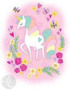 sweet pastel unicorn via katuno.com
