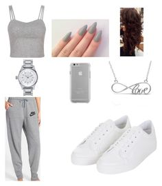 Untitled #51 by sydterific on Polyvore featuring polyvore, fashion, style, NIKE, Topshop, Allurez, Nixon and Case-Mate