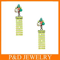 2014 fashion Earring Painting Color Available Buyer's Laber Available Neon Resin Tassel Earring Pearl Stud Earrings, Pearl Studs, Tassel Earrings, Drop Earrings, Silver Pearls, Fashion Earrings, Paint Colors, Latest Fashion, Resin