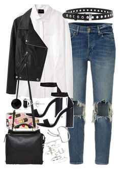 """""""Outfit for day and night"""" by ferned ❤ liked on Polyvore featuring Rachel Comey, Acne Studios, Casetify, Zara, rag & bone, 3.1 Phillip Lim, Monica Vinader, Topshop, Allurez and daytoevening"""