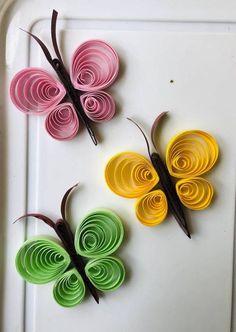 Quilling art butterflies Butterfly Paper butterfly Home Quiling Paper Art, Paper Quilling Cards, Paper Quilling Flowers, Paper Quilling Patterns, Paper Butterflies, Quilling Ideas, Diy Quilling Crafts, Diy Crafts, Paper Quilling For Beginners