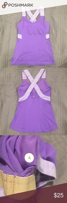 Lululemon Push Your Limits Tank in Lilac Lululemon Push Your Limits Tank in Lilac. Excellent used condition. Size 4. lululemon athletica Tops