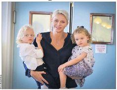 Princesse Charlene et les jumeaux