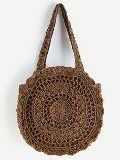 Next Post Previous Post Shop Crochet Scalloped Round Beach Bag online. SheIn offers Crochet Scalloped Round Beach Bag & more. Beach Crochet, Crochet Tote, Crochet Handbags, Crochet Round, Crochet Purses, Crochet Motifs, Crochet Blanket Patterns, Round Bag, Knitted Bags