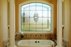 Stained Glass Bathroom Window - traditional - bathroom - denver - Scottish Stained Glass