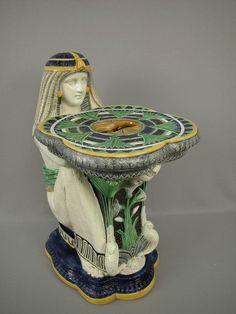 Majolica Moore & Co Egyptian Garden Seat.