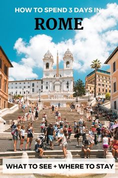 Expert guide to planning 3 days in rome including what to see on each day to see rome's must see attractions without exhausting yourself. Backpacking Europe, Europe Travel Guide, Travel Guides, Travel Destinations, Rome Travel, Italy Travel, Italy Trip, Italy Vacation, Must See In Rome