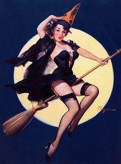 #retro #lingerie #halloween #bruxa