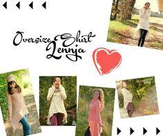 """Nähanleitungen Mode - Oversize - Vokuhila - Shirt """"Lennja"""" Gr.32 - 50 - ein Designerstück von Mamili1910 bei DaWanda"""