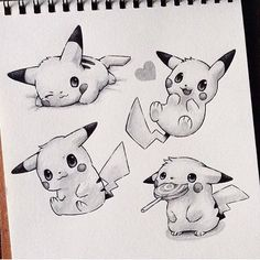 "⚡️ By Taji Joseph _ Use to get featured… ""Super Cute Pikachu!⚡️ By Taji Joseph _ Use to get featured! Cool Art Drawings, Art Drawings Sketches, Cartoon Drawings, Animal Drawings, Drawing Ideas, Pikachu Tattoo, Pikachu Art, Pikachu Memes, Pikachu Drawing Easy"