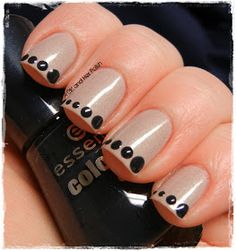 Dots as a sort of funky French? Squee! | A Girl and Her Polish: Essence Skyscraper and Some Dots