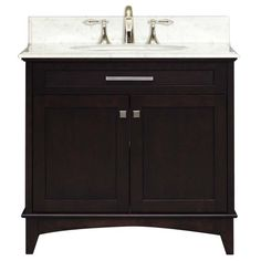 Water Creation MANHATTAN36 Manhattan Collection 36-Inch (37-Inch with Countertop) Single Sink Bathroom Vanity Set Water Creation, $799 free shipping