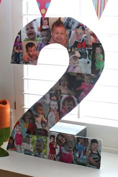 Taylor Joelle Designs: Carnival Birthday Party Inspiration:  Collage in the shape of the age