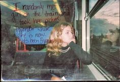 Random picture of girl on a train. Makes you wonder about people and their stories. Pretty Words, Beautiful Words, Eduardo Kingman, Hipster Edits, Post Secret, Weird And Wonderful, I Smile, Inspire Me, Cool Girl