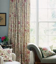 Pleated Curtains, Pencil Pleat, Custom Drapes, Made To Measure Curtains, Drapery Panels, Bed Throws, Pattern Mixing, William Morris, Soft Furnishings