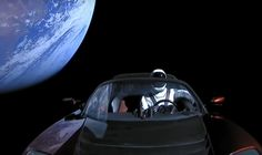 The Falcon Heavy rocket, developed by Elon Musk had a special 'passenger' on-board: a mannequin named 'Starman' who is sitting comfortably in a Tesla Roadster. Check out a video of Starman enjoying the view over here: Elon Musk Car, Falcon Heavy, Tesla Roadster, Kennedy Space Center, All In One App, Old Paintings, Most Popular Memes, Space Shuttle, Logo Images