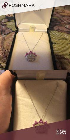 the latest 32cf4 bc4e5 Princess crown pink diamond necklace Beautiful Princess crown diamond and  pink diamond necklace from Kay Jewelers