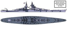 The Coloured version of this Lineart: [link] , showing this Good Looking Battleship in the Colour Scheme used for the Richelieu The Great Battelship Bonaparte Napoleon New Battleship, Navy Coast Guard, Military Modelling, Navy Ships, American War, Military Equipment, Submarines, Aircraft Carrier, War Machine