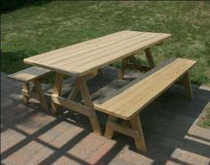 $639 - 5' Treated Pine Traditional Picnic Table with 2 Benches by Fifthroom, http://www.amazon.com/dp/B001PL3WM6/ref=cm_sw_r_pi_dp_yaomrb0H03X9F
