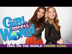 "Assista Take On the World (From ""Girl Meets World""/Theme Song from the TV Series/Audio Only) - Sabrina Carpenter & Rowan Blanchard Sabrina Carpenter, Disney Channel Shows, Disney Shows, Rowan Blanchard, Boy Meets World, Photos Des Stars, Tv Theme Songs, Remix Music, Tv Themes"