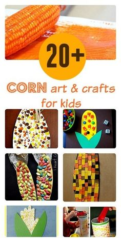Collection of some very easy, clever and cute corn crafts ,corn themed art projects and a few corn learning activities for kids. #thanksgivingcrafts #corncraftsforkids