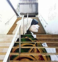 Street art is visual art created in public locations. Those public locations can be walls, streets, pavements and even stairs. Check out these Awesome Stairs Street Art, and there is surely something which can inspire you. Stairway Art, Stairway To Heaven, Painted Staircases, Painted Stairs, Escalier Art, Performance Artistique, Stairs And Staircase, Beautiful Stairs, Amazing Street Art