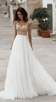 37 Wedding Dresses with romantic details - stunning wedding dress This is the day that they've been planning for since they were young girls. Choosing the right wedding dress can be the most essential part.