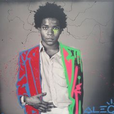 Alec Monopoly x Jean Michel Basquiat Basquiat Artist, Jm Basquiat, Jean Michel Basquiat, Andy Warhol, Tableau Pop Art, Street Artists, Famous Artists, Graffiti Art, Drawing