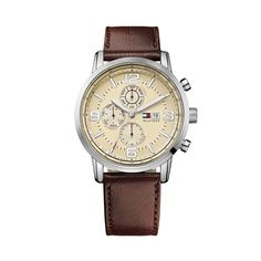 Tommy Hilfiger TH Classics Gabe All Brown Gents Watches, Watches For Men, Leather Men, Brown Leather, Tommy Hilfiger Watches, Chronograph, Jewelry Watches, Beige, Black Friday